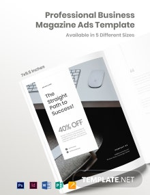 Professional Business Magazine Ads Template