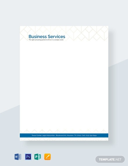 Free Business Letterhead Template