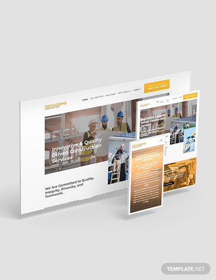 Modern Construction Company Website Template