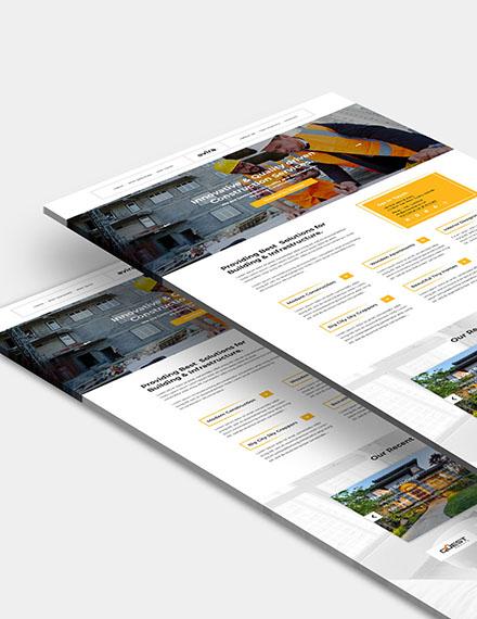 Construction Company Website Format