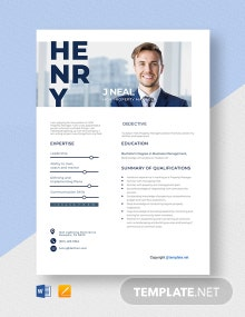Free HOA Property Manager Resume Template