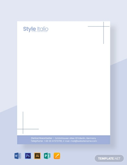 Free Furniture Shop Letterhead Template