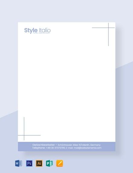 55  free letterhead templates