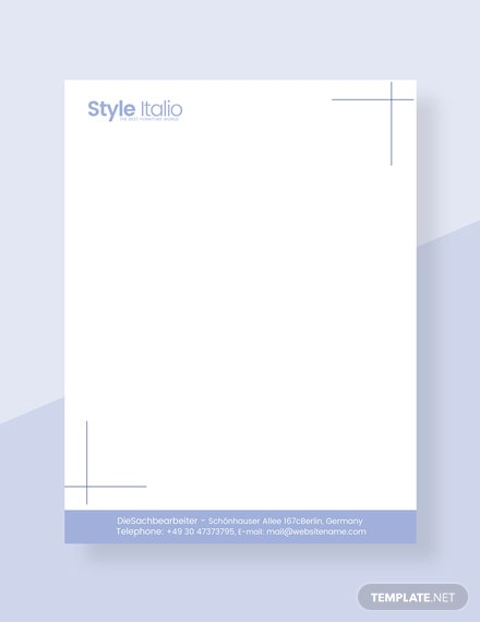 Furniture Shop Letterhead Template