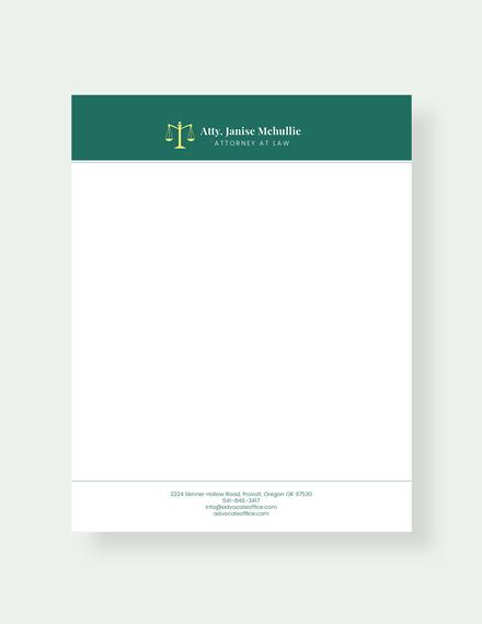 free advocate letterhead template download 31 letterheads in psd