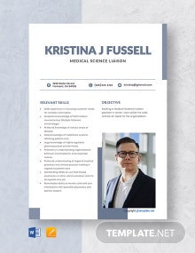 Free Medical Science Liaison Resume Template