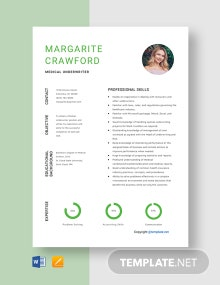 Free Medical Underwriter Resume Template
