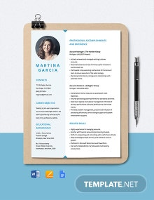 Free Editable Account Manager Resume Template