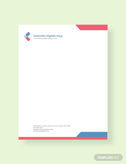 34 FREE Letterhead Templates Download Ready Made