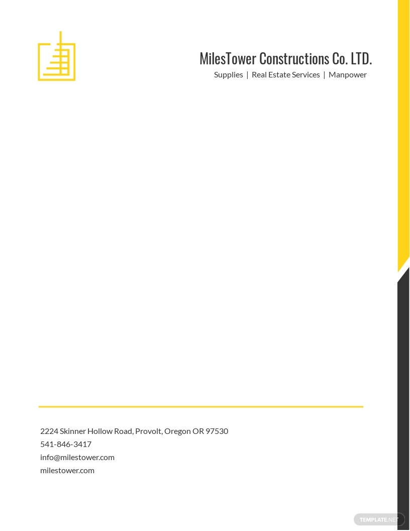 Construction Letterhead Templates in Microsoft Word (DOC ...