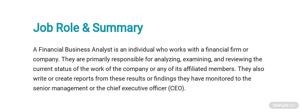 Free Financial Business Analyst Job Ad/Description Template 2.jpe