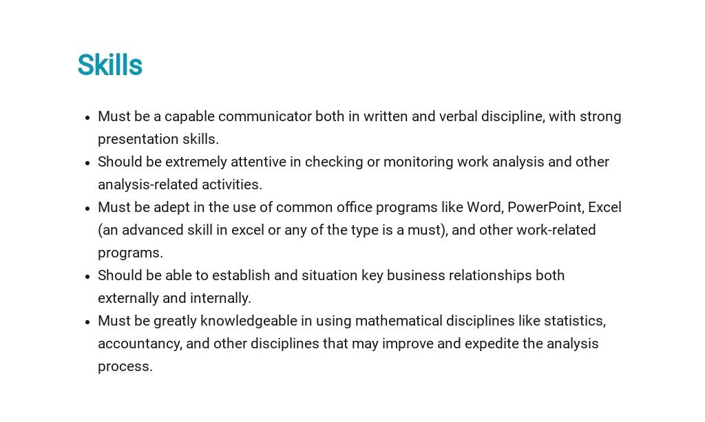 Free Financial Business Analyst Job Ad/Description Template 4.jpe
