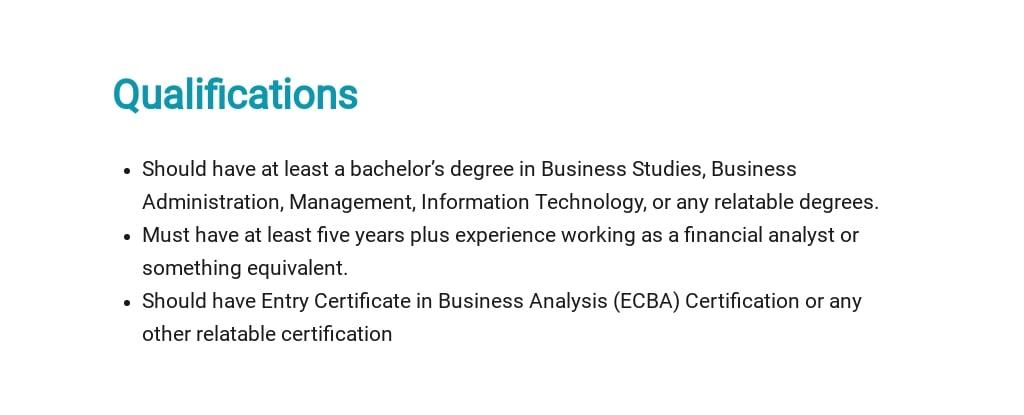 Free Financial Business Analyst Job Ad/Description Template 5.jpe