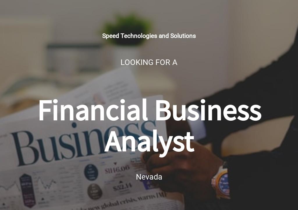 Free Financial Business Analyst Job Ad/Description Template.jpe