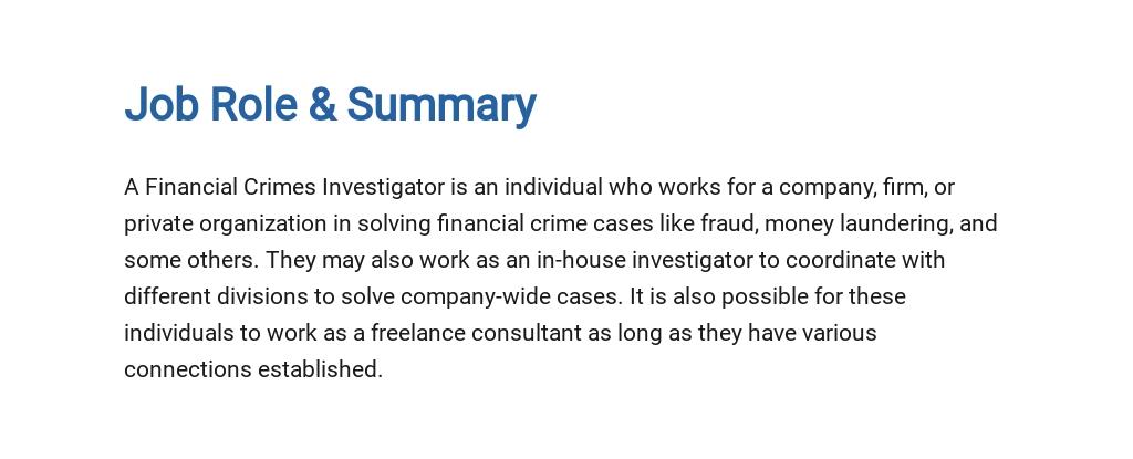 Free Financial Crimes Investigator Job Ad/Description Template 2.jpe