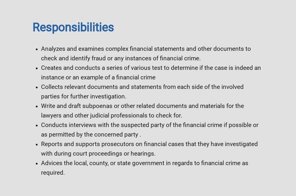 Free Financial Crimes Investigator Job Ad/Description Template 3.jpe