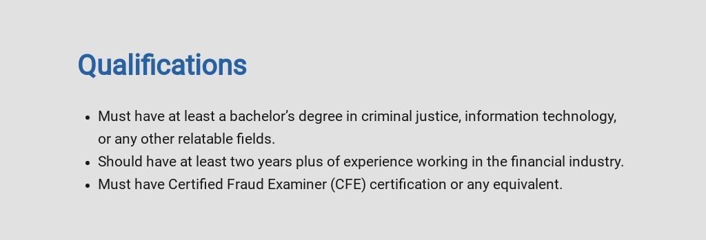 Free Financial Crimes Investigator Job Ad/Description Template 5.jpe