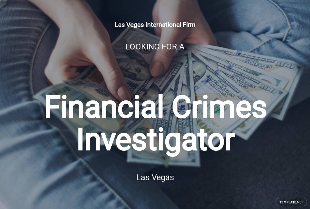 Free Financial Crimes Investigator Job Ad/Description Template.jpe