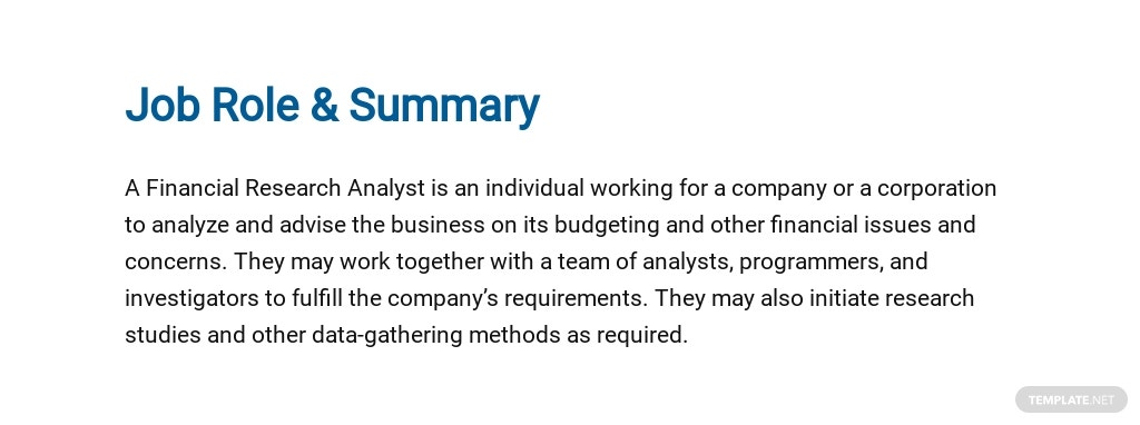 Free Financial Research Analyst Job Ad/Description Template 2.jpe