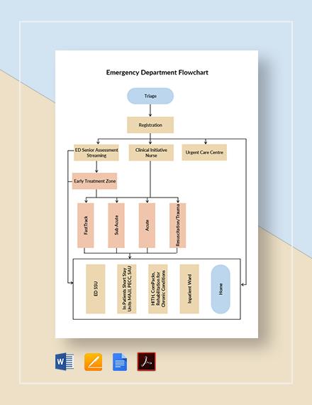 Emergency Department Flowchart Template