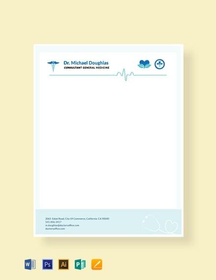 Free Doctor Letterhead Format