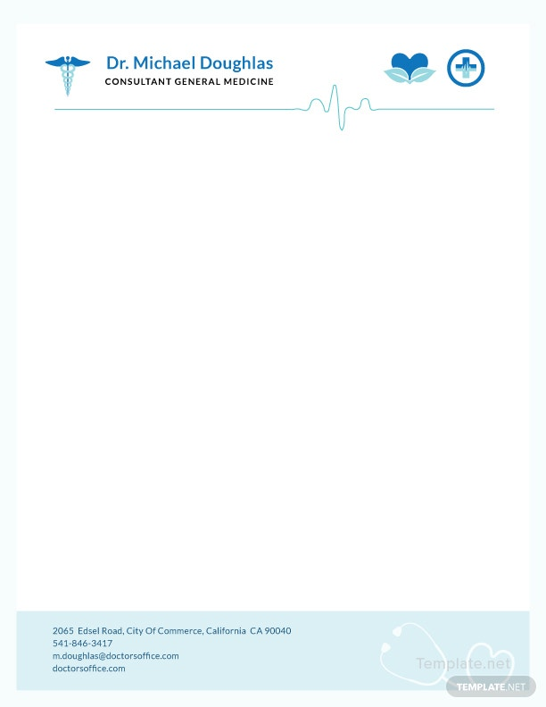 Doctor letterhead format template in adobe photoshop illustrator doctors letterhead format spiritdancerdesigns Image collections