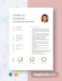 Professional Development Director Resume Template