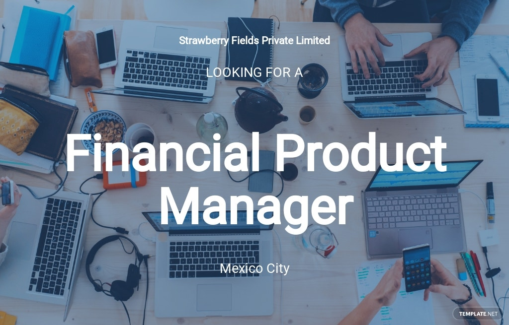 Financial Product Manager Job Ad/Description Template