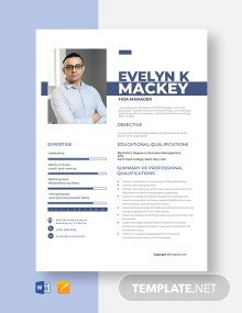 Free HOA Manager Resume Template