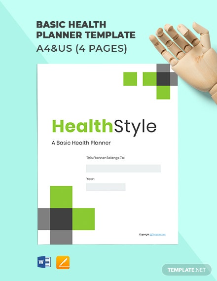 Free Basic Health Planner Template