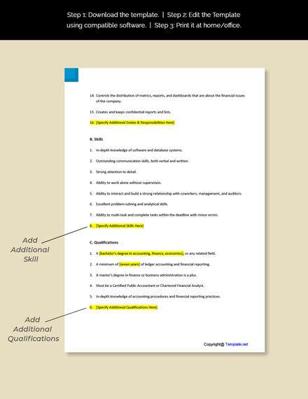 Financial Reporting Analyst Job Description Template