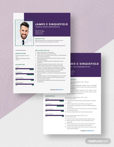 Financial Service Representative Resume Download