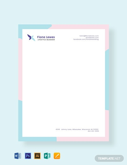 free personal letterhead template  download 140