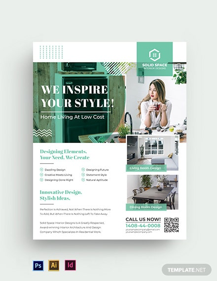 Free Elegant Interior Design Flyer Template