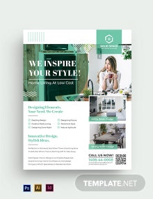 Free Elegant Interior Design Flyer Template