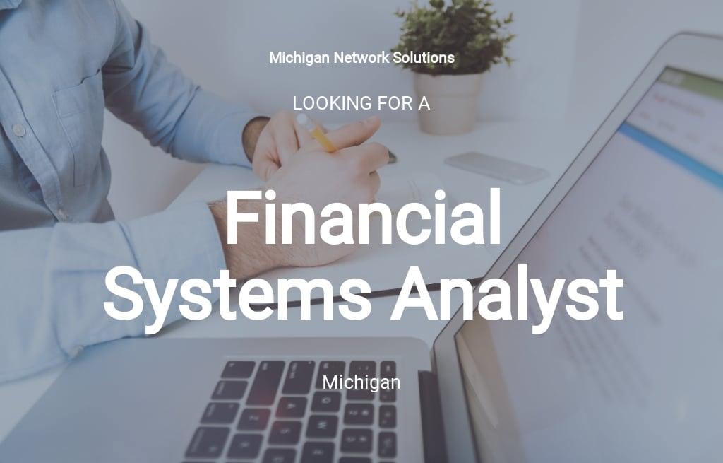 Financial Systems Analyst Job Description Template