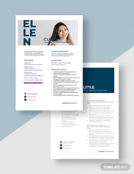 Financial Services Consultant Resume Download