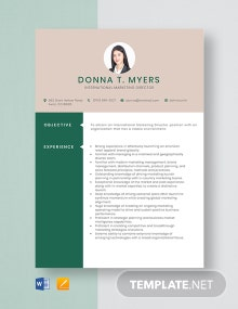 International Marketing Director Resume Template