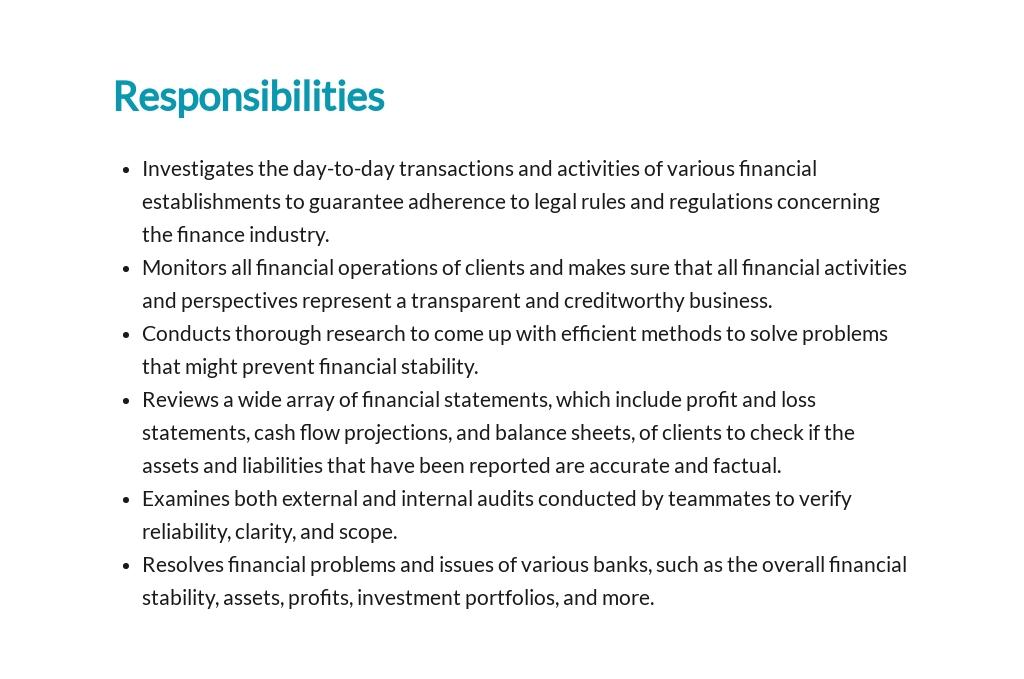 Free Financial Examiner Job Description Template 3.jpe