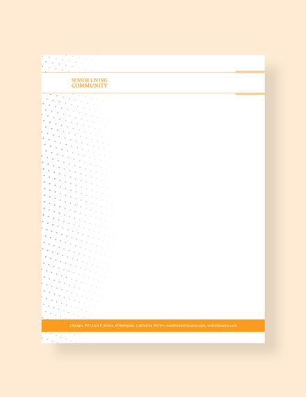 Free Community Service Letterhead Template