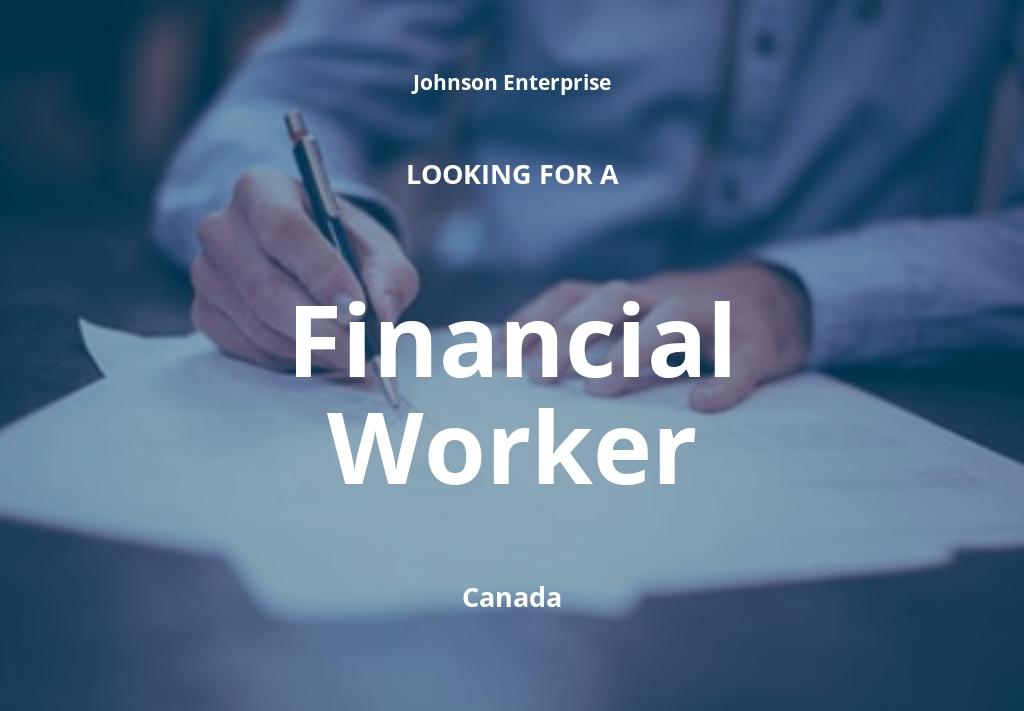 Financial Worker Job Description Template
