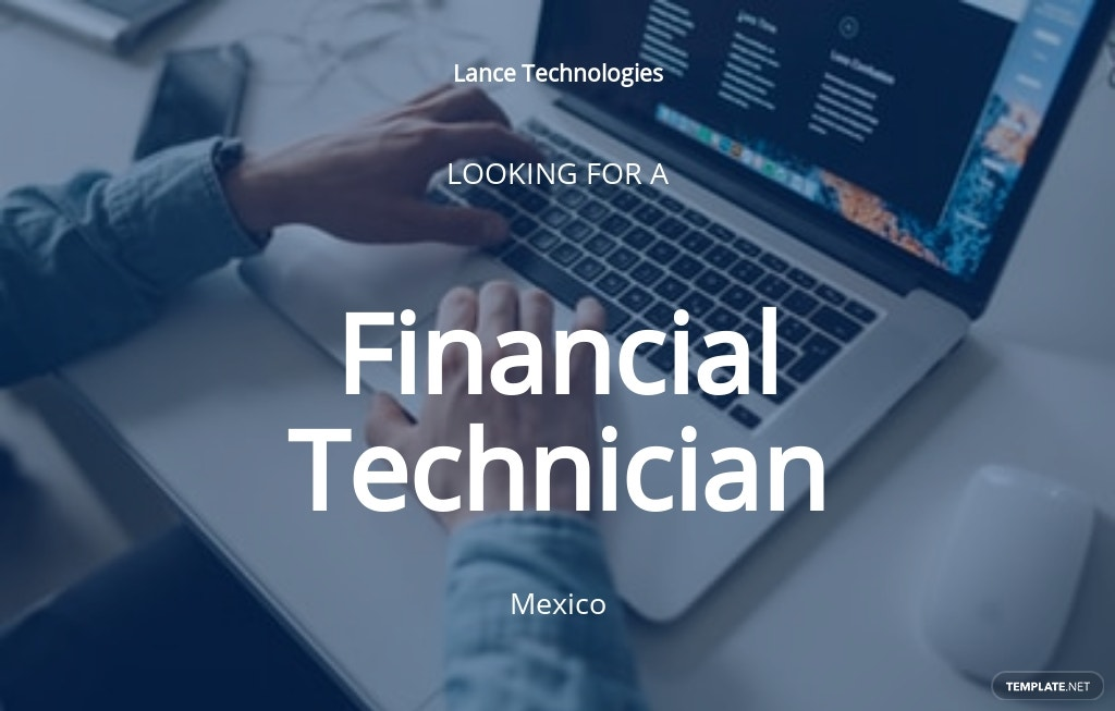 Financial Technician Job Ad/Description Template