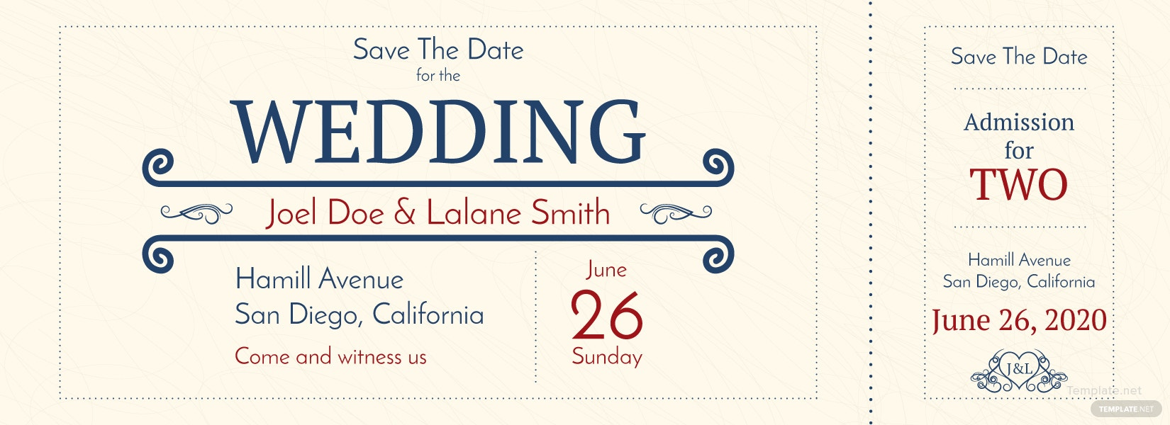 free wedding admission ticket template in adobe photoshop