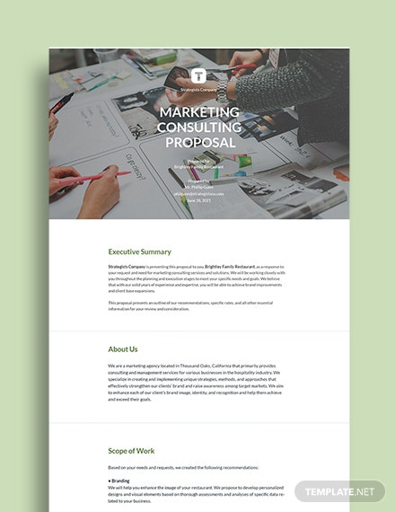 Marketing Consulting Proposal Sample