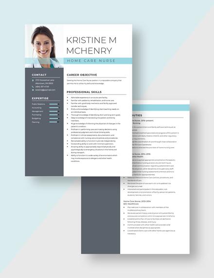 Home Care Nurse Resume Download