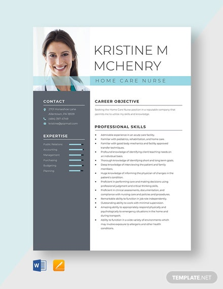 Home Care Nurse Resume Template