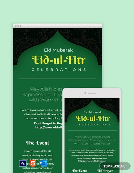 Free Eid Ul Fitr Email Newsletter Template