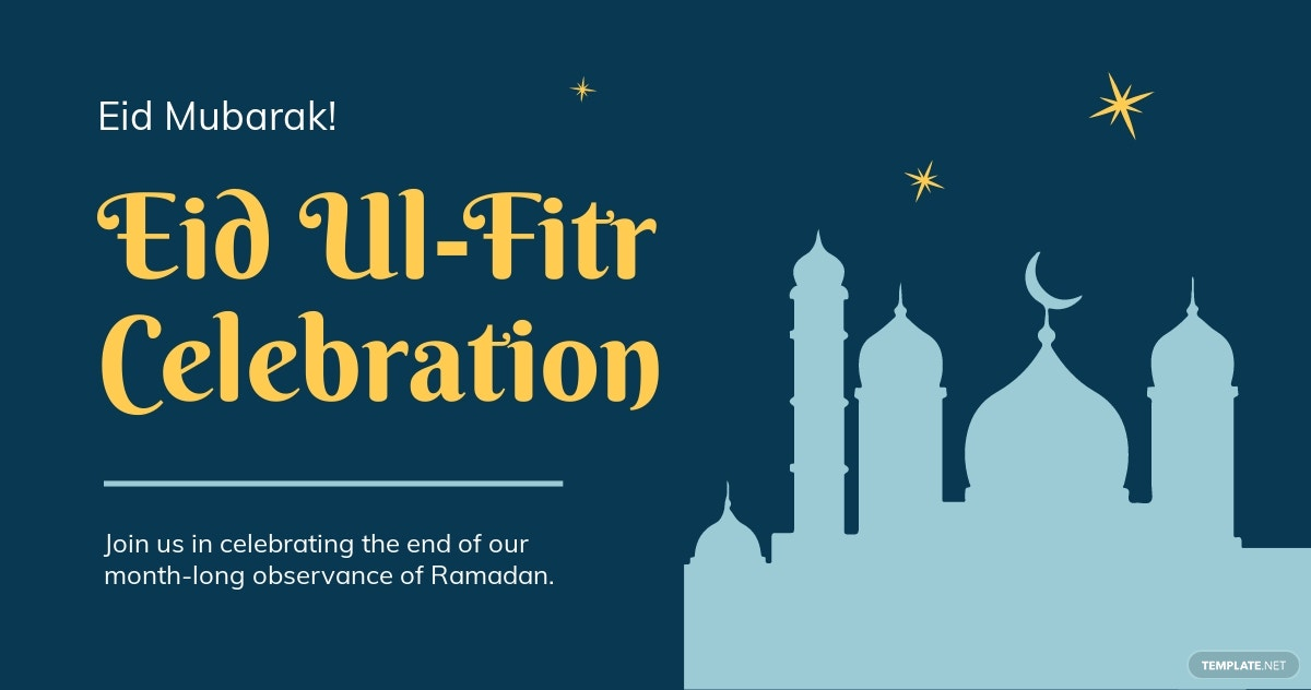 Eid Ul Fitr Facebook Post Template