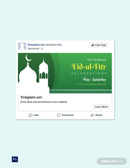 Free Eid Ul Fitr Facebook Post Template