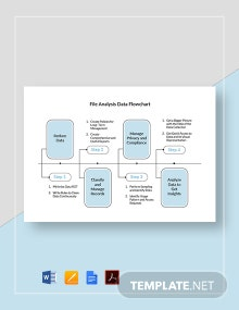 File Analysis Data Flowchart Template
